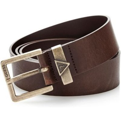 Guess Real Leather Belt With Buckle