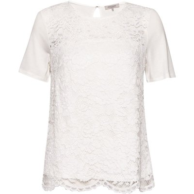 Great Plains In The Mix Lace T-Shirt, White