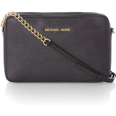 Michael Kors Jet set travel small black cross body bag, Black