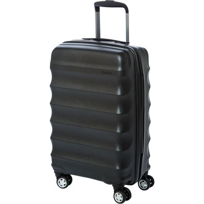 Antler Juno black 4 wheel cabin suitcase, Black