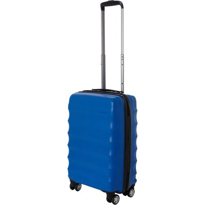 Antler Juno 4 wheel panel blue hard cabin suitcase, Blue