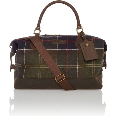 Barbour Tartan explorer holdall bag, Khaki
