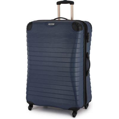 Linea Shell denim 4 wheel hard large suitcase, Denim