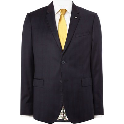 Men's Ted Baker Uncoot Satin Check Suit Jacket, Blue