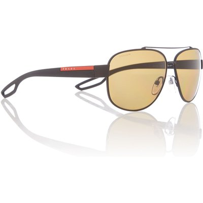 Prada Linea Rossa Ps 58qs male black rectangle sunglasses, Black