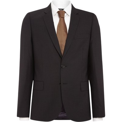 Men's PS By Paul Smith Notch Micro Check Suit Jacket, Dark Grey