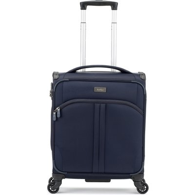 Antler Aire navy 4 wheel soft cabin suitcase, Blue