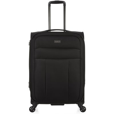 Antler Marcus black 4 wheel medium suitcase, Black