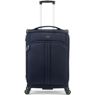 Antler Aire navy 4 wheel soft medium suitcase, Blue