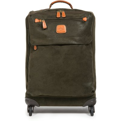 Brics Life olive 4 wheel 65cm soft medium suitcase, Olive