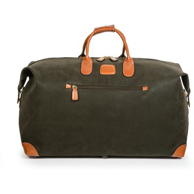 Brics Life Olive Soft Medium Holdall, Olive