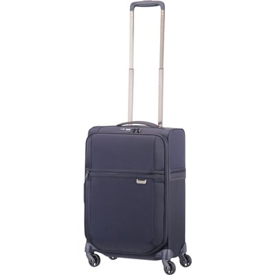 Samsonite Uplite navy 4 wheel 55cm cabin suitcase, Blue