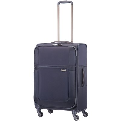 Samsonite Uplite navy 4 wheel 67cm medium suitcase, Blue