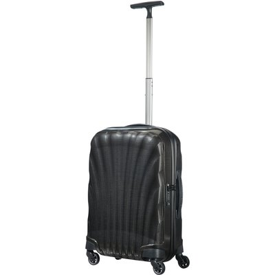 Samsonite Cosmolite 3.0 black 4 wheel 55cm cabin suitcase, Black