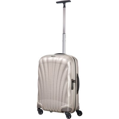 Samsonite Cosmolite 3.0 pearl 4 wheel 55cm cabin suitcase, White