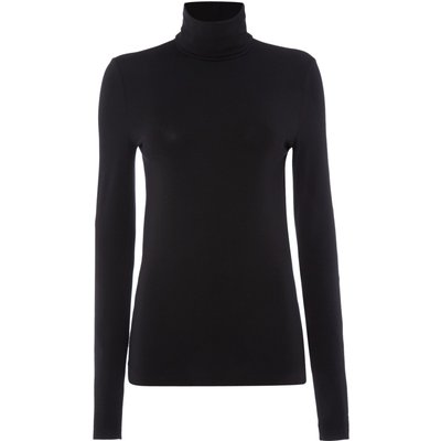 Wolford Viscose roll neck pullover, Black