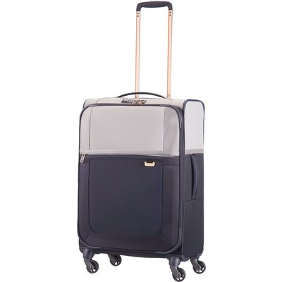 Samsonite Uplite pearl & navy 4 wheel 67cm medium suitcase, Multi-Coloured