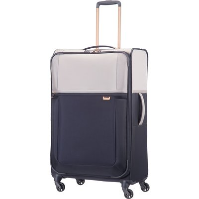 Samsonite Uplite pearl & navy 4 wheel 78cm large suitcase, Multi-Coloured
