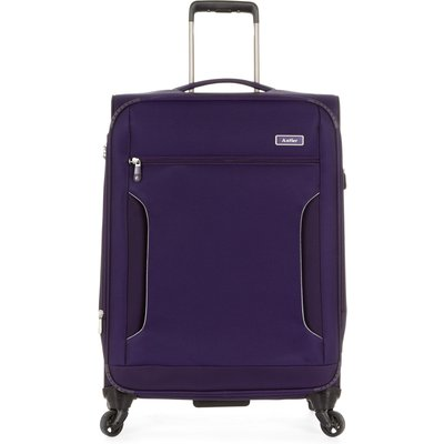Antler Cyberlite II purple 4 wheel soft medium suitcase, Purple