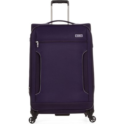Antler Cyberlite II purple 4 wheel soft large suitcase, Purple