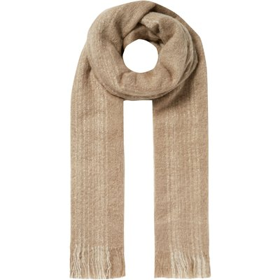 Label Lab Textured stripe scarf, Natural