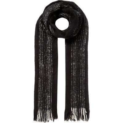 Label Lab Textured stripe scarf, Black