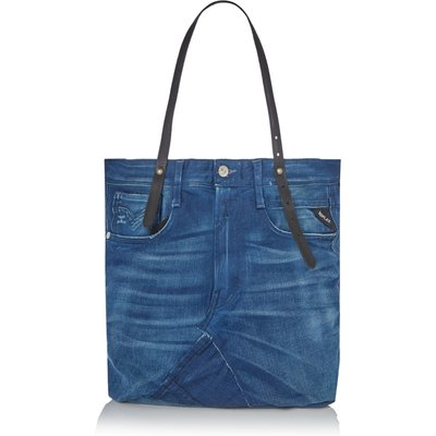 Replay Recycled Denim Shoulder Bag, Blue