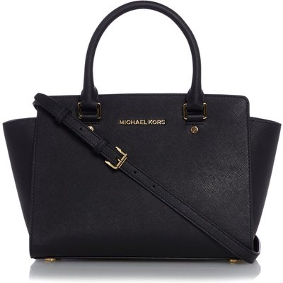 Michael Kors Selma black medium tote, Black