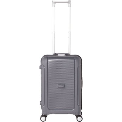 Linea Clip it charcoal 8 wheel hard cabin suitcase, Charcoal