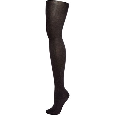 Elle Bamboo 140 denier opaque tights, Charcoal