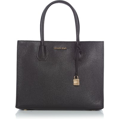 Michael Kors Mercer black large tote bag, Black