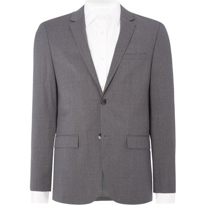 Men's Calvin Klein Talo-bm refined wool suiting jacket, Grey