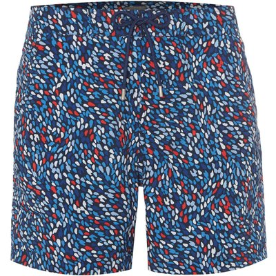 Men's Linea Abstract Geo Print Swim Short, Blue