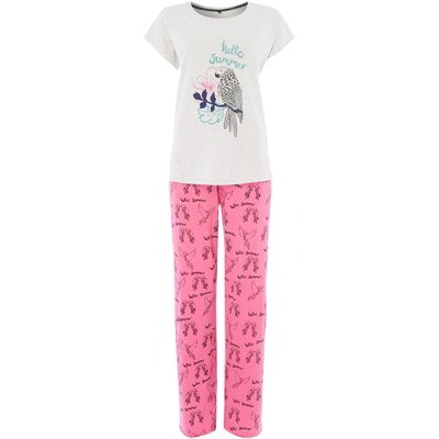 Therapy Hello summer parrot PJ set, Pink