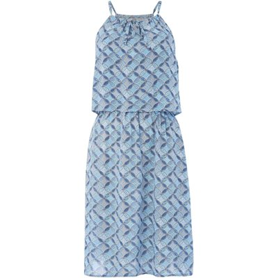 Dickins & Jones Tile print layer beach dress, Turquoise