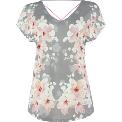 Ted Baker Blossom print multi strap top, Grey