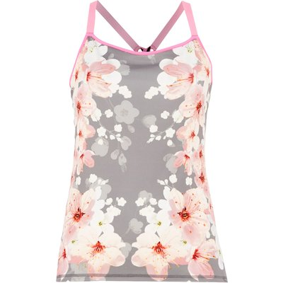 Ted Baker Blossom print strap top, Grey