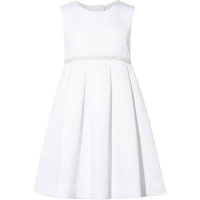 Little Dickins & Jones Girls Bow Detail Occassion Dress, White