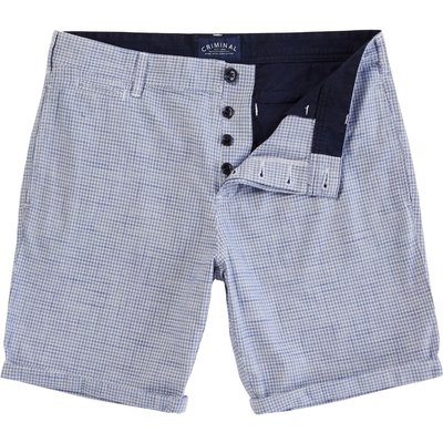 Men's Criminal Mini Check Short, Blue