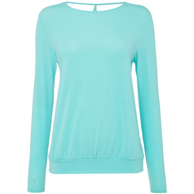 Label Lab YOGA CROSS OVER BACK LONG SLEEVE TOP, Mint