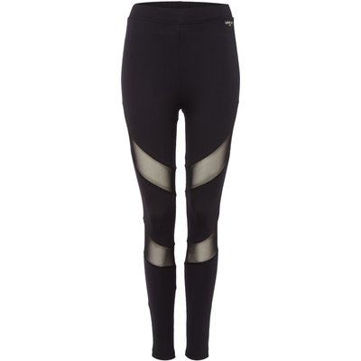Label Lab Mesh panelled full length legging, Black