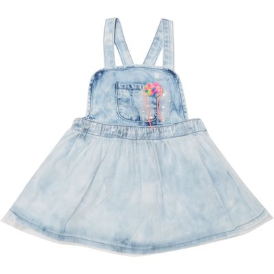Billieblush Girls Denim Dress, Blue