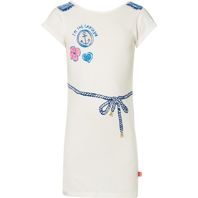 Billieblush Girls Fancy Badge Jersey Dress, White