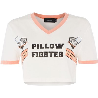 Mink Pink Pillow fighter pyjama t-shirt, Cream