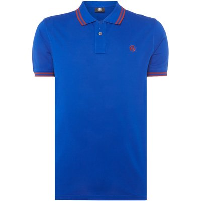 Men's PS By Paul Smith Regular fit tipped logo polo, Blue