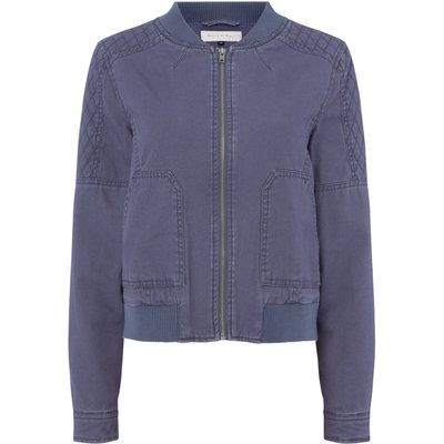 Maison De Nimes Beach washed bomber, Blue