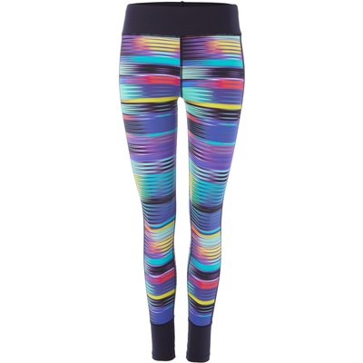 Label Lab Rainbow geo wickable panel legging, Black & Rainbow