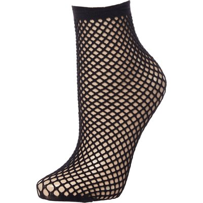 Pretty Polly Rope net Ankle High, Black