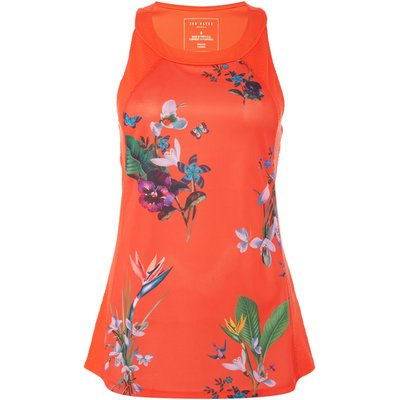 Ted Baker Tropical oasis mesh detail sports top, Red