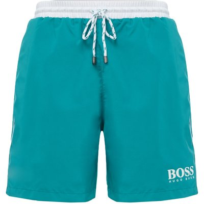 Men's Hugo Boss Starfish Contrast Waistband Logo Short, Green